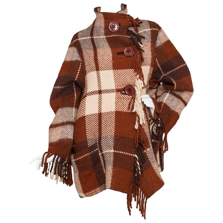 A 90 Tartan Jean-Charles de Castelbajac Wool Jacket