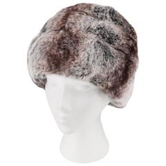 CHRISTIAN DIOR Chapeaux c.1960's MARC BOHAN Chinchilla Fur Tiered Cossack Hat