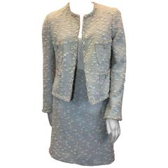 Chanel Blue Sequined Skirt Suit
