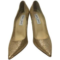 Jimmy Choo Gold Sequined Pump