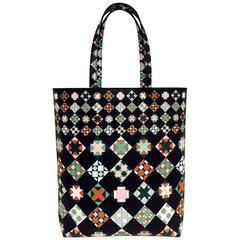 Emilio Pucci Printed Saffiano Leather North South Tote Above Excellent Condit
