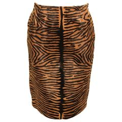 Vintage Bill Blass Tiger Print Pony Skirt