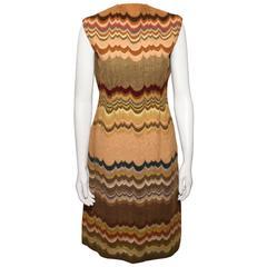 Vintage Pauline Trigere Scallop Design Sheath Dress