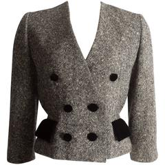 Christian Dior Haute Couture tweed jacket, circa 1950