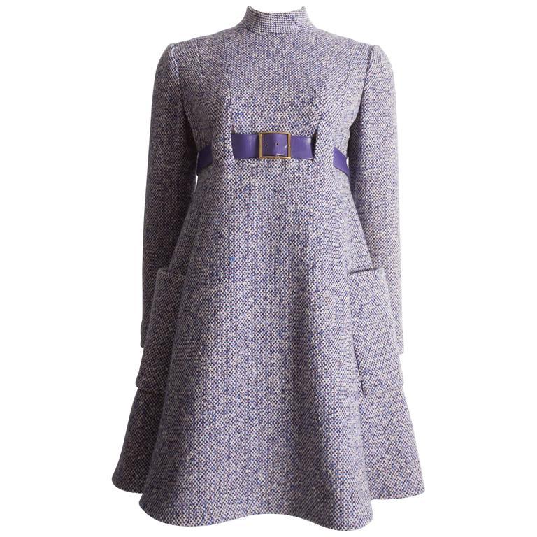 Geoffrey Beene tweed mini dress, circa 1965