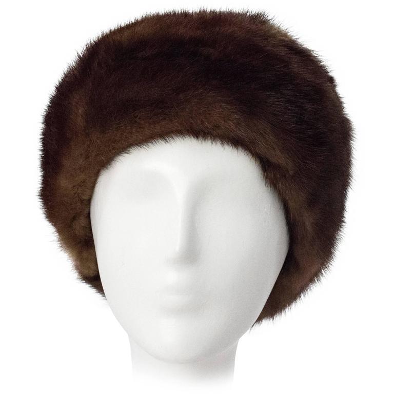 60s Chocolate Mink Hat