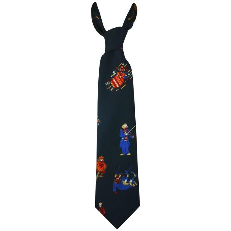 Schiaparelli Circus Collection Revival Wide Necktie