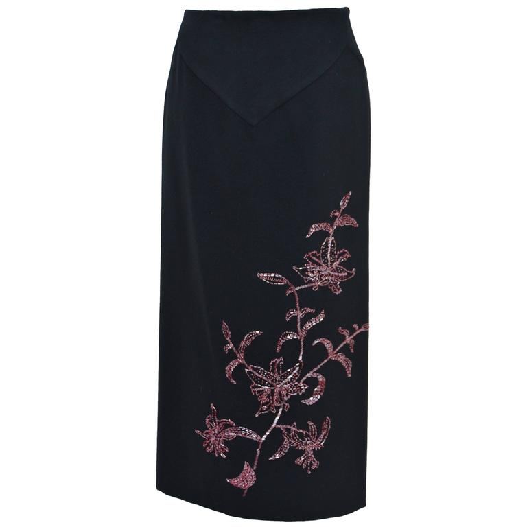 "Alexander McQueen ""Joan"" Collection Embellished Skirt, Autumn / Winter 1998–99 For Sale"