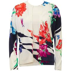 1980's Leonard Floral Pattern Sweater Set