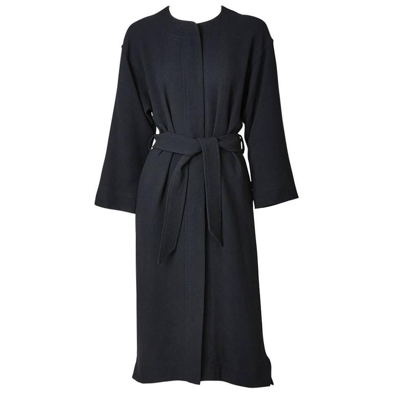 Jean Muir Wool Crepe Belted Coat/Dress