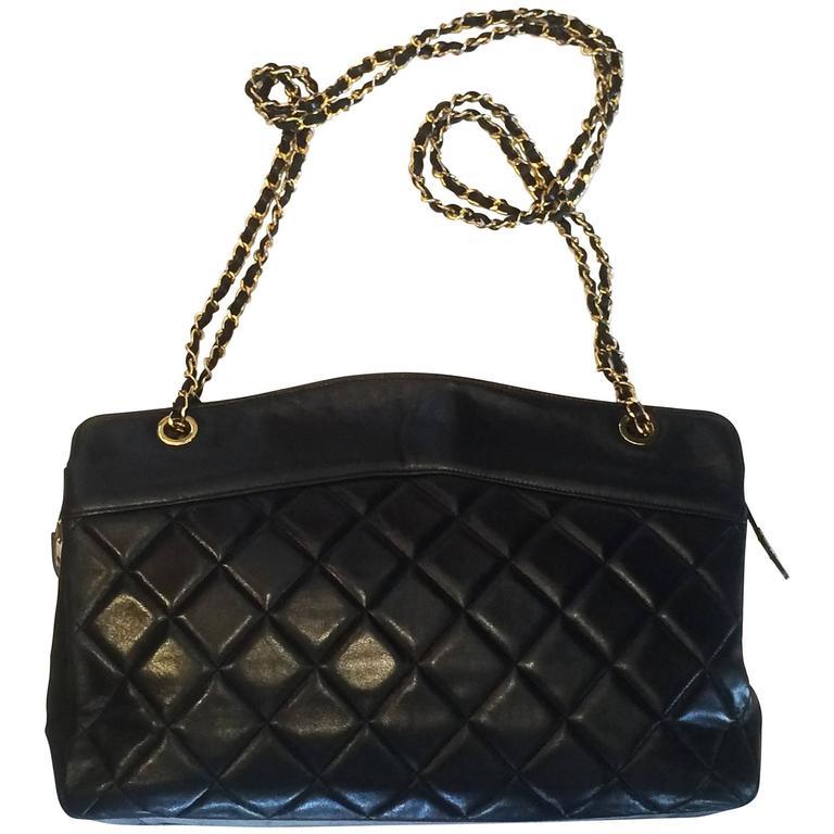 Handbag Chanel Jumbo XL Shopper. Black Matelasse 1