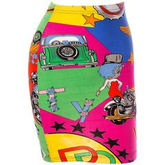 Versace Jeans Couture Betty Boop Harley Davidson Skirt