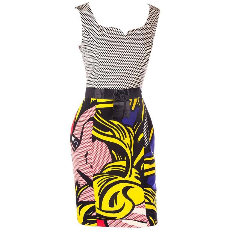 Moschino Cheap and Chic Pop Art Roy Lichtenstein Dress at ...