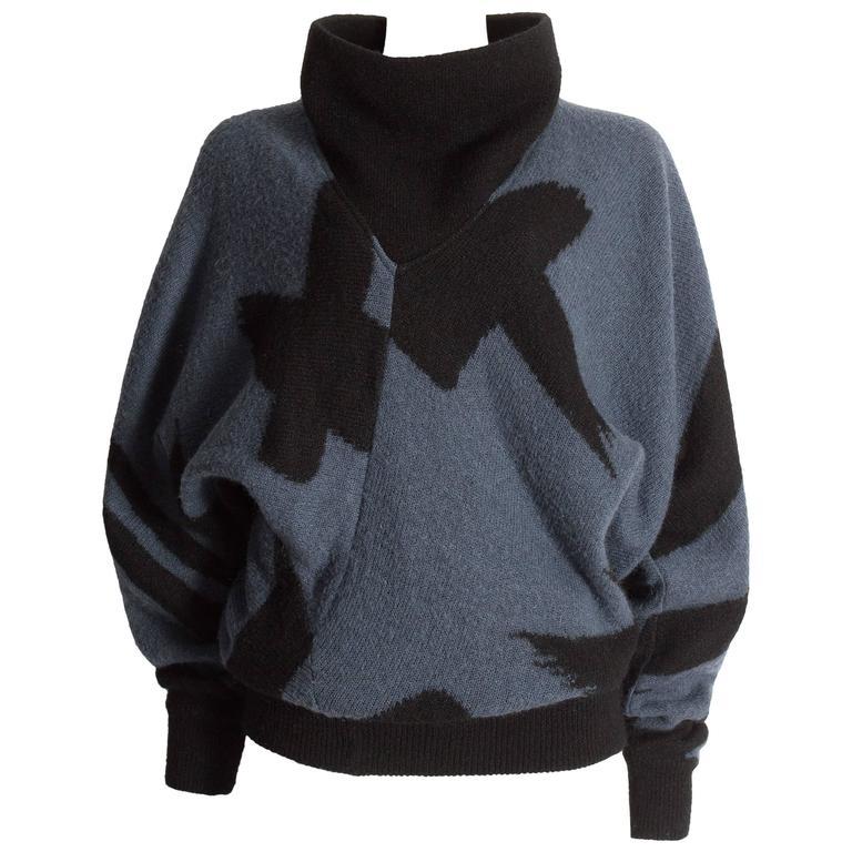 Issey Miyake oversized wool sweater, circa 1980