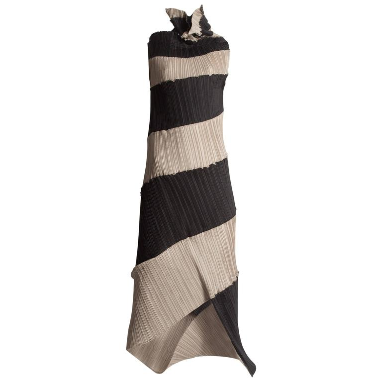 Issey Miyake pleated striped dress, circa 1990