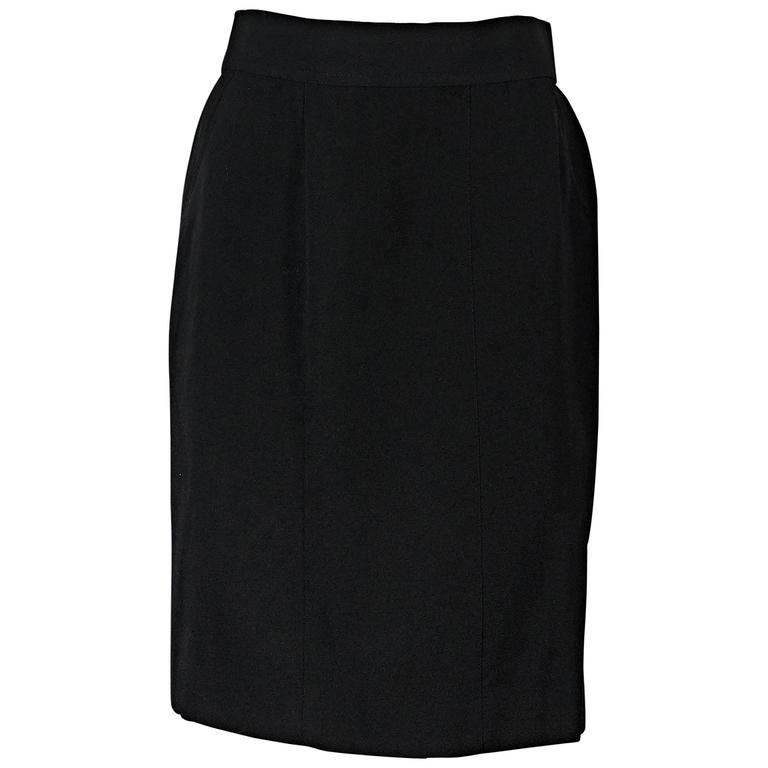 Black Vintage Chanel Skirt