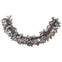 Art Deco Influenced Lush Crystal Choker Necklace