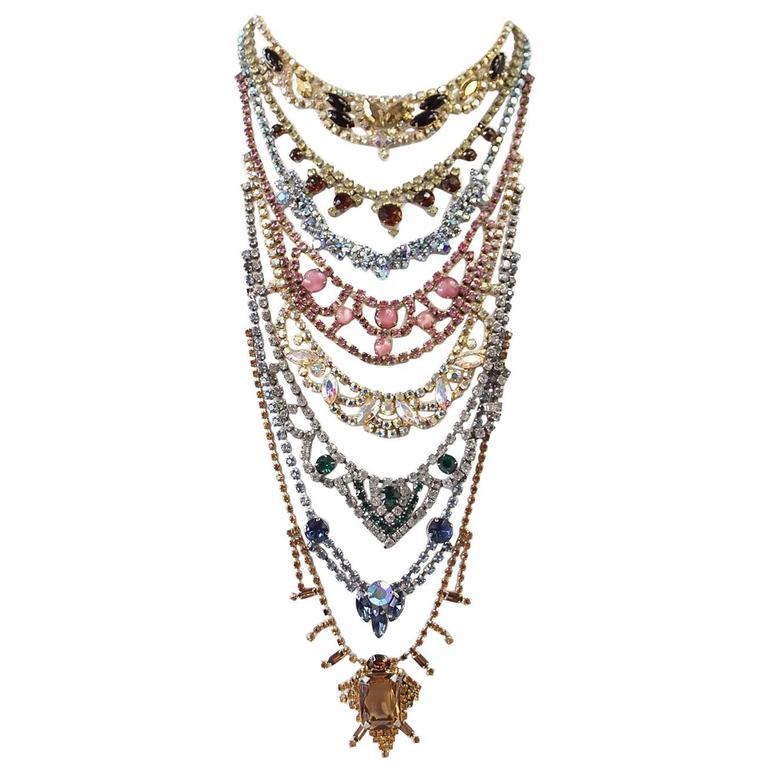 ERICKSON BEAMON Necklace Vintage Stones Baroque Creation SO Striking 1