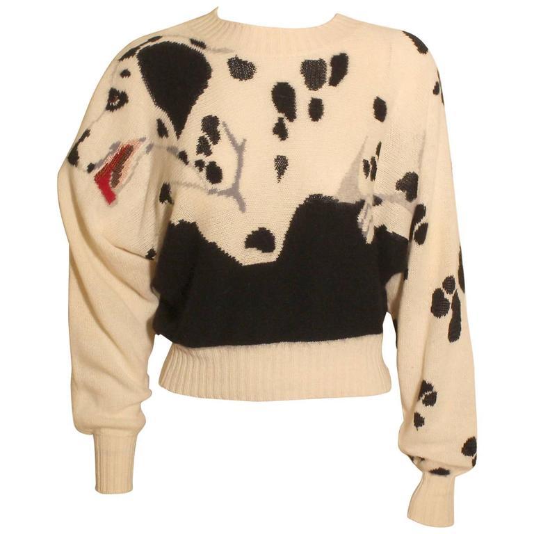 Vintage Krizia Dalmation Print Sweater
