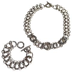 Stephen Dweck Crystal and Sterling Necklace