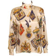 Vintage Escada Bold Print Silk Blouse