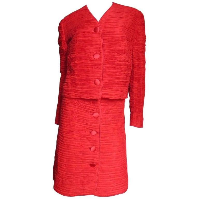 1960s Sybil Connolly Irish Linen Skirt Suit