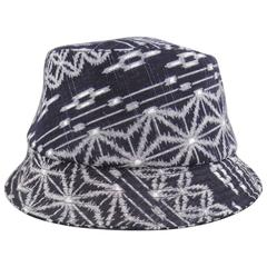 JUNYA WATANABE COMME des GARCONS MAN Navy & Gray Printed Cotton Bucket Hat