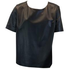Maison Frere Leather Fronted T-Shirt