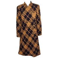Vintage Pauline Trigere Wool Tweed Coat