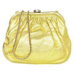 Chanel Metallic Gold Leather Mini Evening Bag GHW