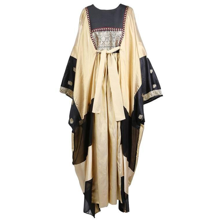 Thea Porter Embroidered Gold Caftan 1960s