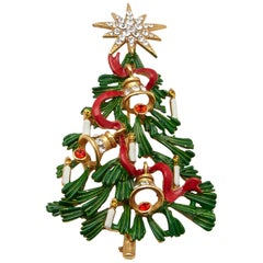 Butler & Wilson Christmas Tree Brooch Pin