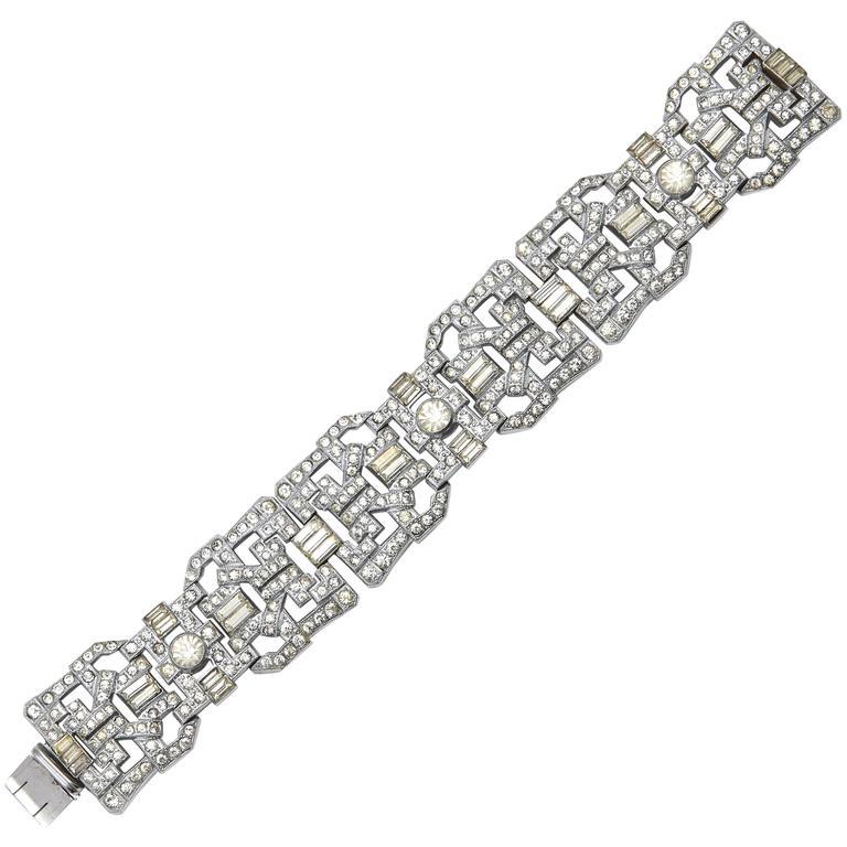 Vintage Luxe Wide Art Deco Bracelet 1