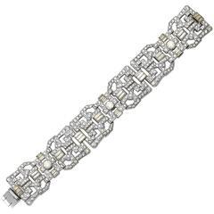 Vintage Luxe Wide Art Deco Bracelet