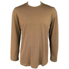 Men's Vintage COMME des GARCONS Size L Light Brown Soft Wool Crewneck Pullover
