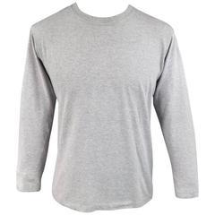 MAISON MARTIN MARGIELA Size M Mixed Heather Grey Cotton Long Sleeve T-Shirt