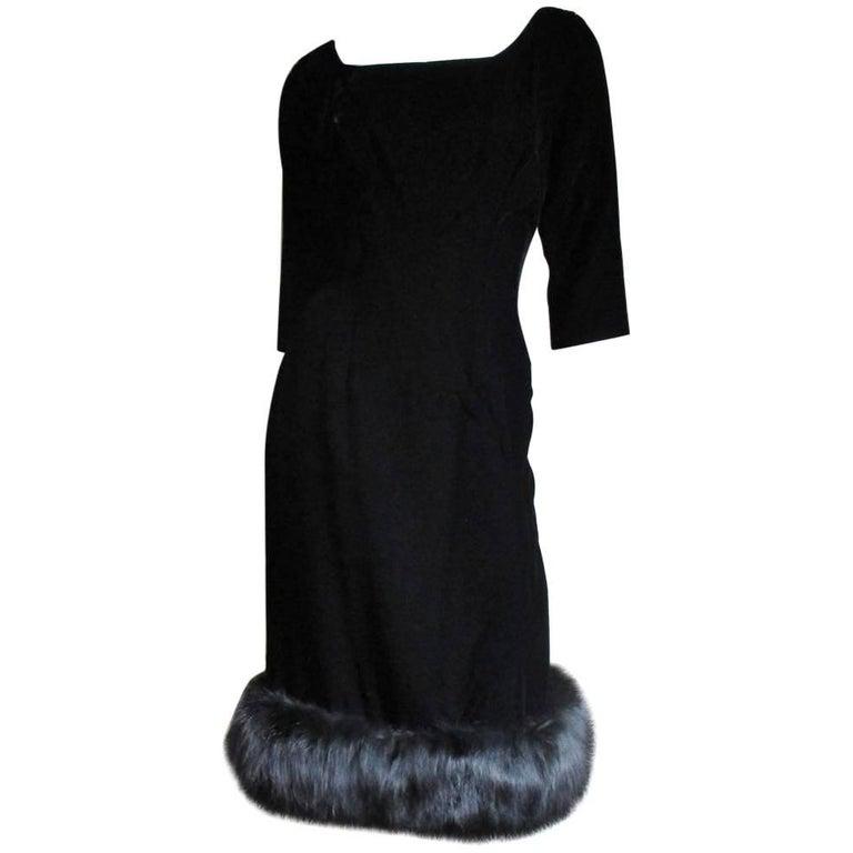 1950s Suzy Perette Fox Trim Dress