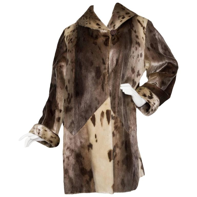 Yves Saint Laurent 90s Seal Skin Fur Coat