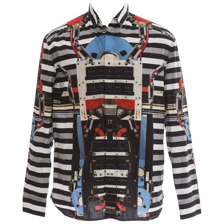 Givenchy By Riccardo Tisci Men's Cotton Print Shirt, Spring / Summer 2014