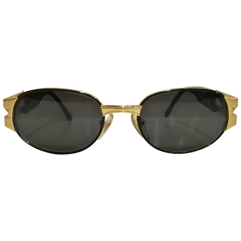 Police Black and Gold Sunglasses For Sale