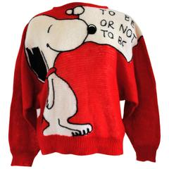"J.C de Castelbajaf for Iceberg red Snoopy sweater ""To be or not to be"""