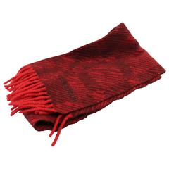 Louis Vuitton red Cashmere Scarf