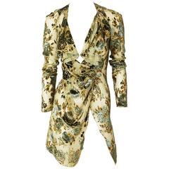 Valentino Cut Velvet on Chiffon Jacket/Tunic