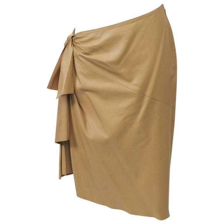 Hermes Leather skirt