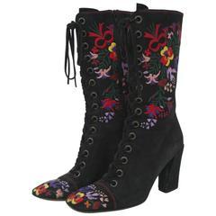 Miu Miu Embroidered Boots