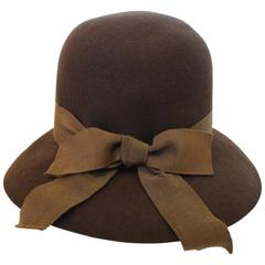 1980s Chanel 'Ladylike' Felt Hat with Bow