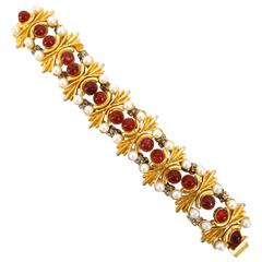 1960s William de Lillo Royal Sunburst Bracelet