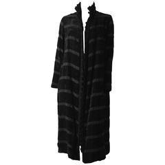 20s Black Silk Cord Coat