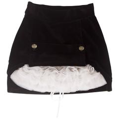 Vivienne Westwood black velvet mini skirt with crinoline, circa 1991
