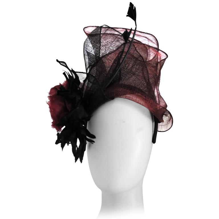 Kreisi Couture Bordeaux Black Hat 1
